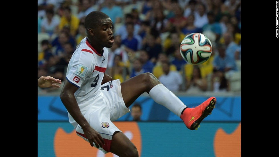 Costa Rica forward Joel Campbell was a key player in the match, scoring the equalizing goal and setting up his team's third.