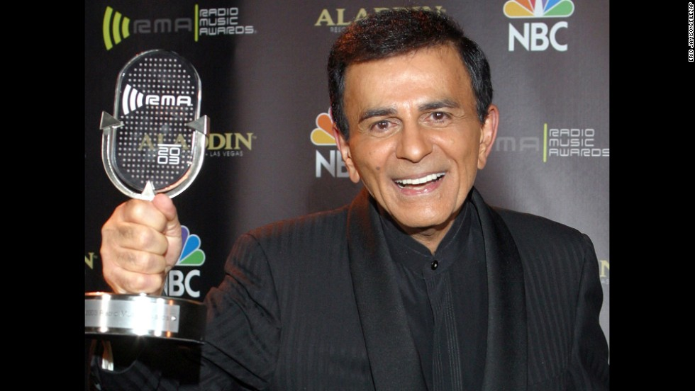 "Radio personality <a href=""http://www.cnn.com/2014/06/15/showbiz/casey-kasem-obit/"">Casey Kasem</a> died June 15. He was 82 and had been hospitalized in Washington state for two weeks."
