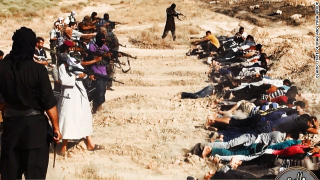 ISIS photos seem to show mass execution