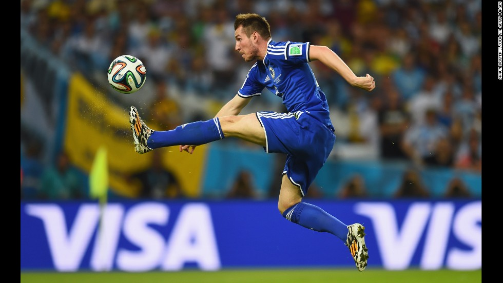 Izet Hajrovic of Bosnia and Herzegovina in action during the match.