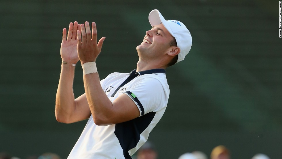 Martin Kaymer celebrates after securing the U.S. Open crown at Pinehurst by an incredible eight shots, becoming the first German to win the tournament in the process.