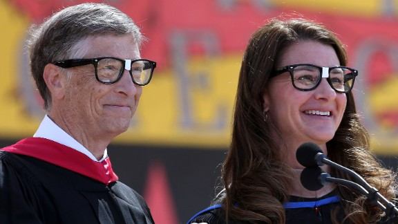 """The founders and co-chairs of the Bill & Melinda Gates Foundation gave the commencement address at Stanford University on June 15. """"Even in dire situations, optimism can fuel innovation and lead to new tools to eliminate suffering. But if you never really see the people who are suffering, your optimism can't help them. You will never change their world,"""" Bill Gates told students.<br />"""