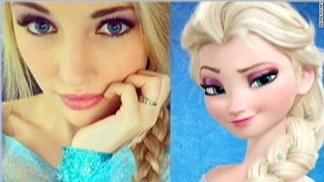 Teen a real-life 'Frozen' character?
