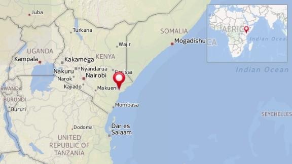Map: Mpeketoni, Kenya