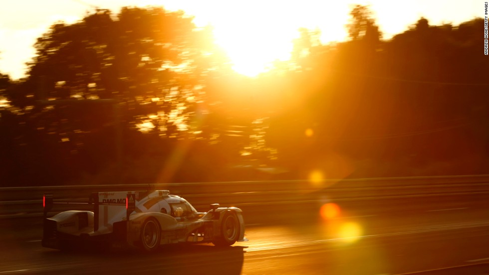 A Porsche 919 Hybrid is seen during the 24 Hours of Le Mans event on Saturday, June 14, in Le Mans, France. Timo Bernhard, Mark Webber and Brendon Hartley teamed up for Porsche in the daylong endurance race, but it was the Audi team of Marcel Fassler, Andre Lotterer and Benoit Treluyer that won the event.