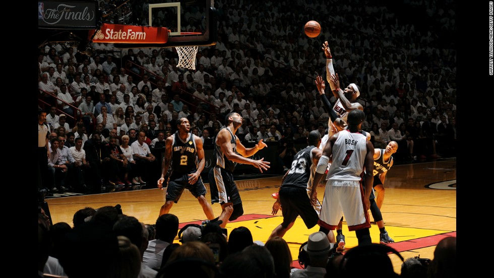 LeBron James of the Miami Heat shoots the ball during Game 3 of the NBA Finals on Tuesday, June 10. The Heat lost the game and the series, failing in their attempt to win three straight NBA championships.