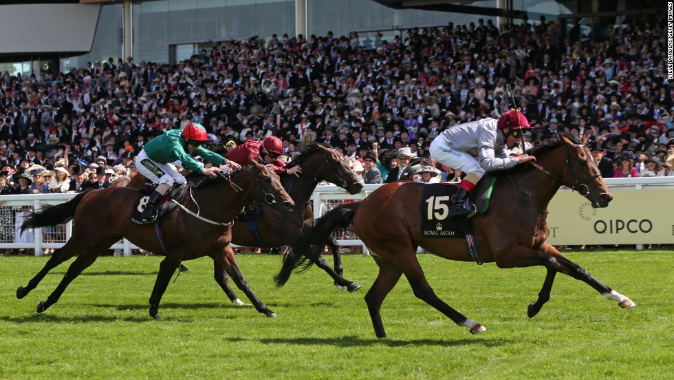 The Wow Signal ridden by Frankie Dettori breaks away to win the Coventry Stakes on the opening day of Royal Ascot.