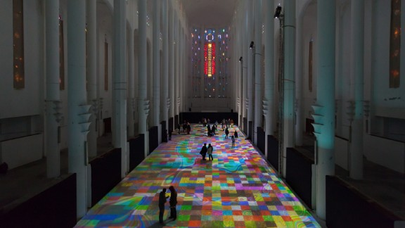 """""""Magic Carpets"""" at the Sacre Couer Cathedral in Casablanca"""