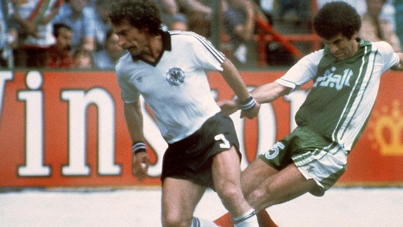 """""""Out, Out"""" chanted the fans as West Germany and Austria ensured their second round qualification in 1982. West Germany's 1-0 win over Austria sent both sides into the knockout stages at the expense of Algeria."""