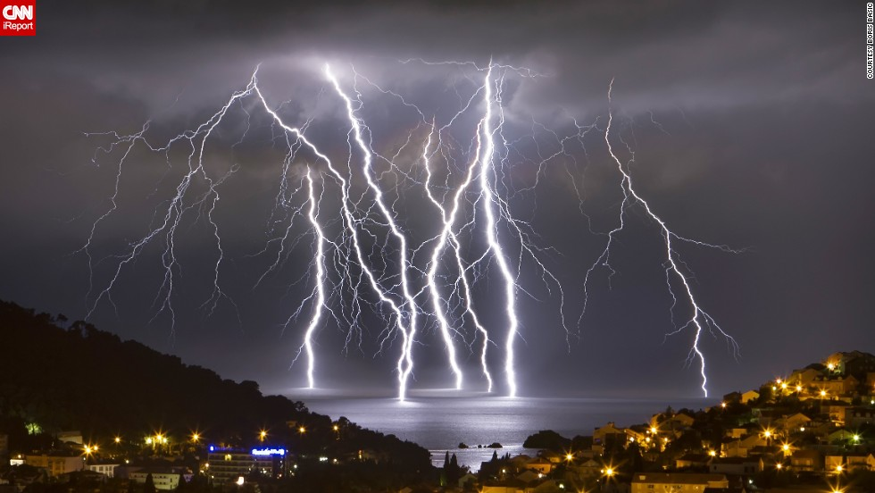 Several Severe Thunderstorms Came Through The Oceanfront City Of Dubrovnik Croatia In June