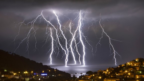 "Several severe thunderstorms came through the oceanfront city of Dubrovnik, Croatia, in June. Boris Basic, who snapped this photo, said the storms also brought hail and flash flooding. ""It was intense experience,"" he said."