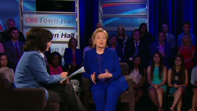 tsr amanpour clinton town hall three words_00003923.jpg