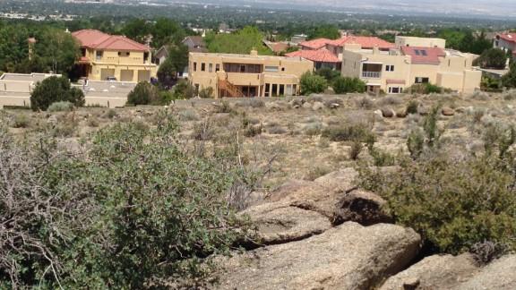 The hills above Albuquerque, New Mexico, where James Boyd was shot.