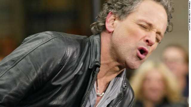 NEW YORK - APRIL 18: Guitarist Lindsey Buckingham of Fleetwood Mac performs as part of the 2003 'Today' Summer Concert Series at the NBC Studios April 18, 2003 in Rockefeller Center in New York City