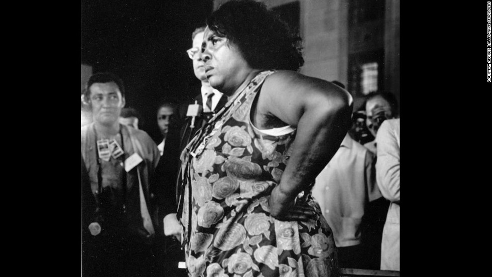 Fannie Lou Hamer attends the Democratic National Convention as part of the Freedom Summer delgation.