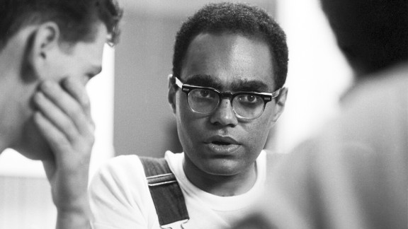 Bob Moses, a Freedom Summer organizer, speaks with volunteers.