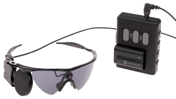 The Argus II system can restore some vision in people made blind by retinitis pigmentosa. The patient wears a pair of glasses with a small video camera mounted on it, which captures images.