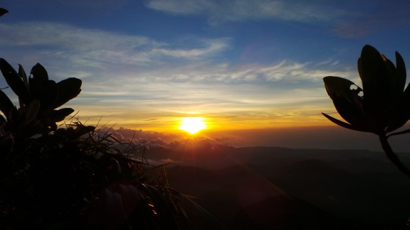 After spending the day hiking up Mount Mantalingajan in Palawan, Philippines, Sherbien Dacalanio was treated to this summer sunset.