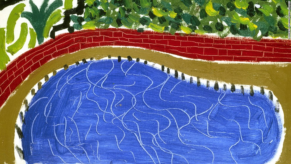 "<em>Detail of ""Montcalm Pool, Los Angeles"" (1980) by British artist David Hockney</em><br /><br />""We are always looking for pioneers, whether those are the pioneers of the day, or the people who were pioneers before they became incredibly important seminal figures,"" says Marc Spiegler, one of the directors of Art Basel, about the fair's selection process."