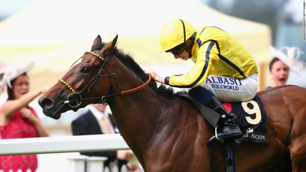 Ryan Moore steered Rizeena to victory in the Coronation Stakes during day four of Royal Ascot.