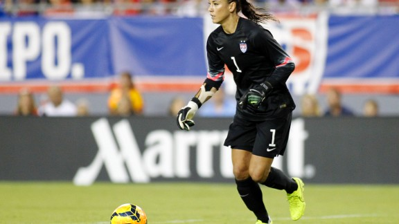 Goalkeeper Hope Solo has won two gold medals and played in two World Cups.