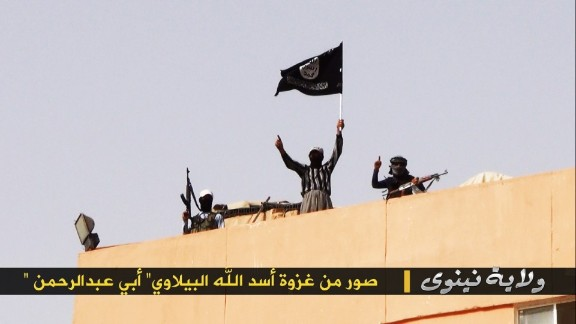 This photos was taken by the Sunni-extremist, al Qaeda splinter terrorist group ISIS - Islamic State in Iraq and Syria on or about Wednesday, June 18, 2014 near Mosul/ Nineveh, Iraq, about 420 km north of Baghdad. ISIS invaded the area on June 7th. ISIS captured several vehicles and a large cache of Iraqi military equipment, abandoned by the Iraqi army which largely fled during the attack.