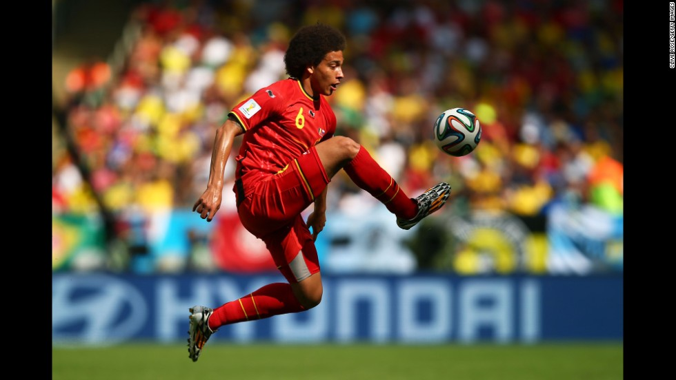 Axel Witsel of Belgium controls the ball.