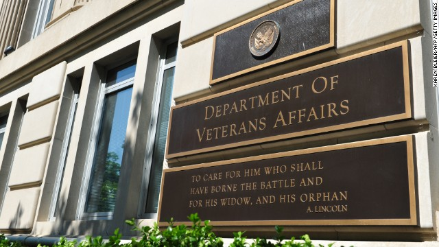 This May 19, 2014 photo shows a  a sign in front of the Veterans Affairs building in Washington, DC. The VA and Secretary Eric Shinseki are under fire amid reports by former and current VA employees that up to 40 patients may have died because of delayed treatment at an agency hospital in Phoenix, Arizona. AFP PHOTO / Karen BLEIER        (Photo credit should read KAREN BLEIER/AFP/Getty Images)