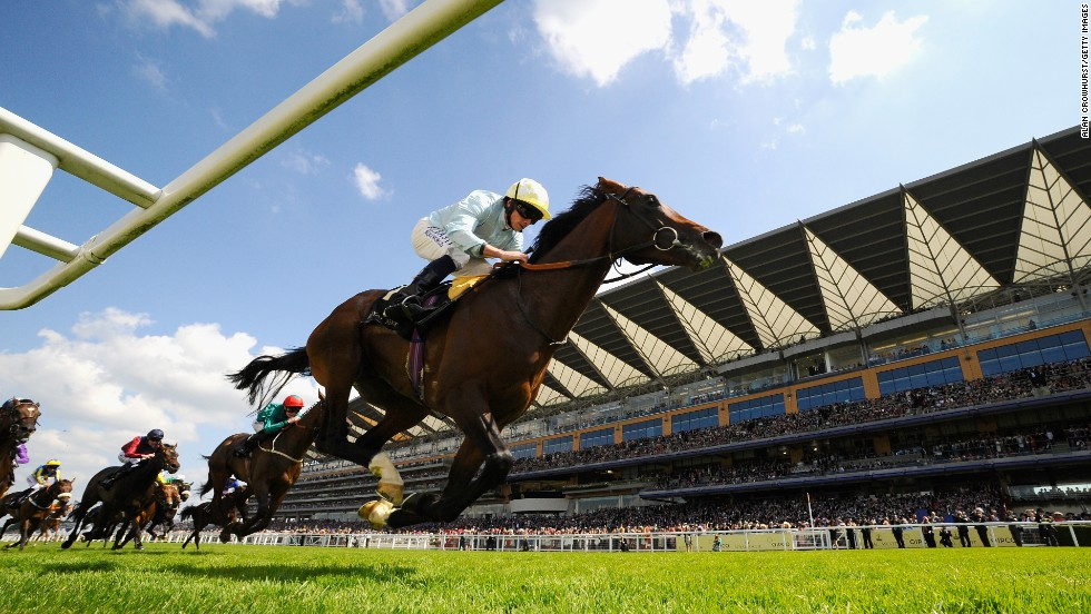 Arab Spring and jockey Ryan Moore win the Duke of Edinburgh Stakes during the Royal Ascot on Saturday, June 21, in Ascot, England.