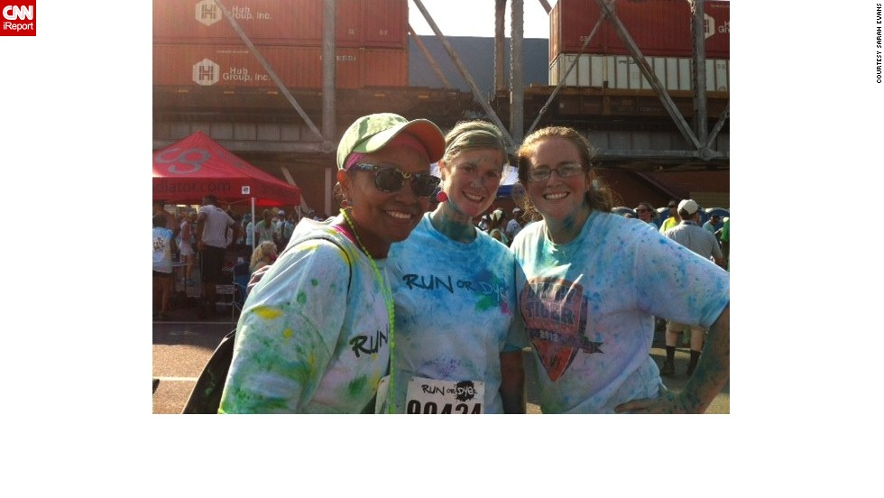 "Evans credits most of her success to running. She participated in the ""Run or Dye"" race in Shreveport on September 7, 2013."
