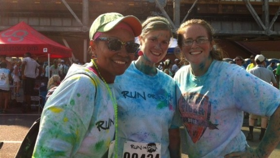 """Evans credits most of her success to running. She participated in the """"Run or Dye"""" race in Shreveport on September 7, 2013."""