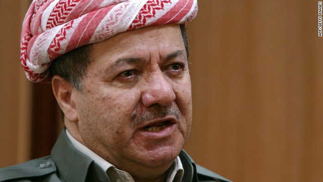 Massoud Barzani, the head of the Kurdistan Regional Government.
