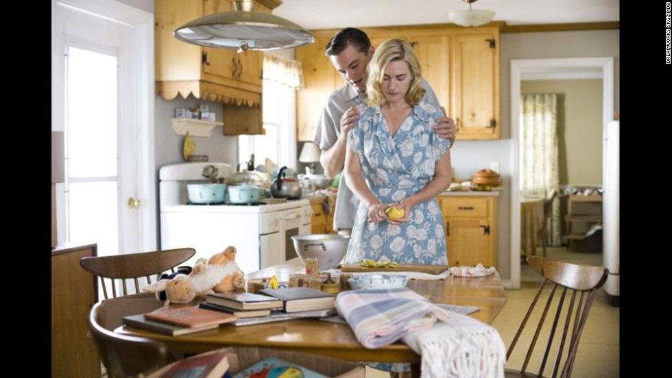 "In the 2008 drama ""Revolutionary Road,"" Leonardo DiCaprio and Kate Winslet play Frank and April Wheeler, a couple in the 1940s who become sick of their suburban lifestyle and set their eyes on Paris. After April gets pregnant and Frank is offered a promotion, the two put those plans on hold. April, still unhappy, ultimately decides to perform her own abortion, and dies after the botched procedure."