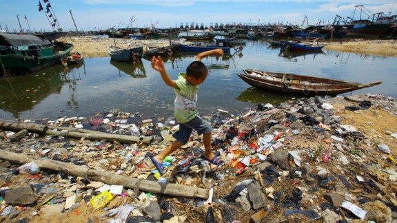 China, the most populous nation, has the most mismanaged plastic waste per year, according to a report in the journal Science.