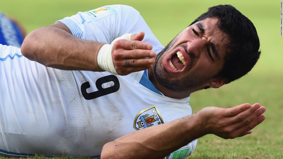 Uruguay soccer star Luis Suarez served a four-month suspension from the sport after he bit Italy defender Giorgio Chiellini on the shoulder during a World Cup game in June. He was also banned for nine international matches and fined $111,000.