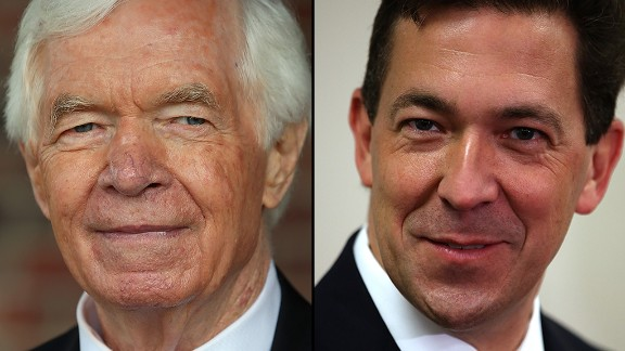Sen. Thad Cochran (L) and Mississippi State Sen. Chris McDaniel