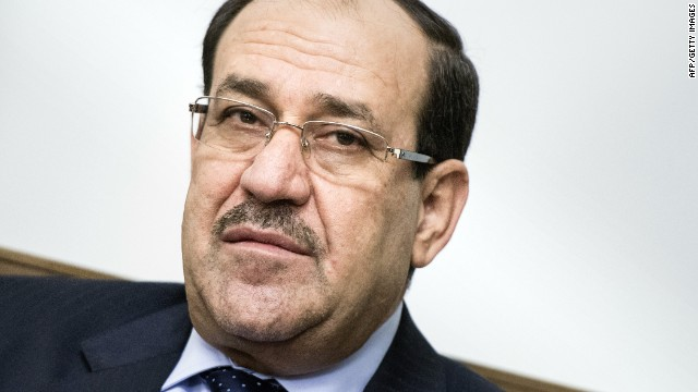 Iraqi Prime Minister Nuri al-Maliki at the Prime Minister's Office in Baghdad on June 23, 2014.