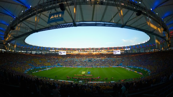 RIO DE JANEIRO, BRAZIL - JUNE 25: A general view of the stadium during the 2014 FIFA World Cup Brazil Group E match between Ecuador and France at Maracana on June 25, 2014 in Rio de Janeiro, Brazil. (Photo by Alexandre Loureiro/Getty Images)