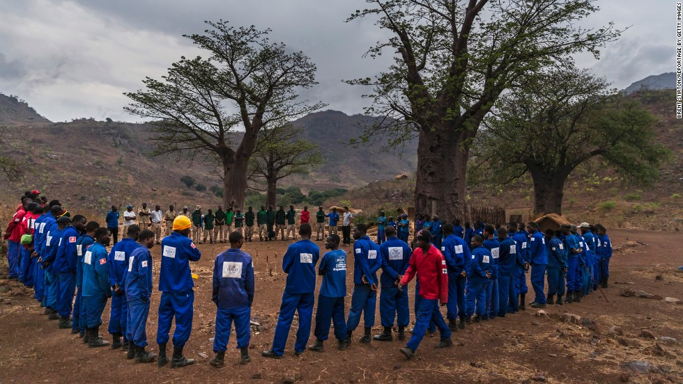 The HALO Trust demining camp is seen in the Chinsunga mountains in Mozambique's Tete province. The organization has cleared more than 22,700 anti-personnel mines and reclaimed more than 500,000 square meters of land for the local population. Mozambique is pushing to be land mine-free by the end of 2014.