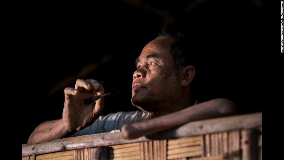 Another victim in Laos lost his hand and was blinded by a land mine he found while farming more than three decades ago. He picked it up, and it went off.