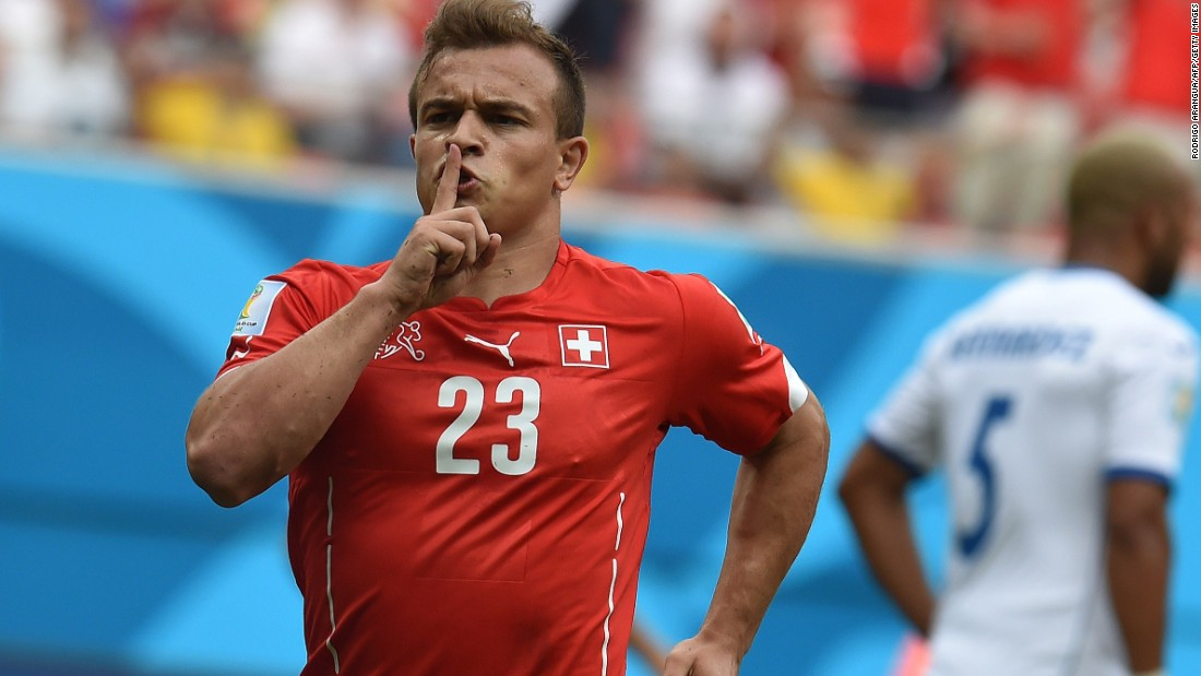 Stoke City has broken its club transfer record to sign Xherdan Shaqiri from Inter Milan for $18.7 million. The Switzerland international, who has inked a five-year contract, spent just seven months at Inter after joining from Bayern Munich in January.