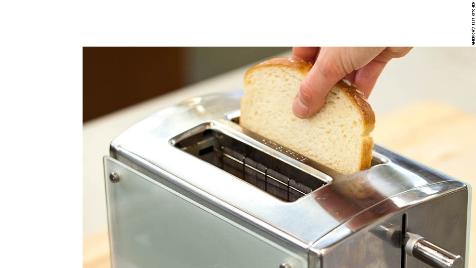Toast 1 slice white sandwich bread in toaster at low setting until surface is dry but not browned, about 15 seconds.