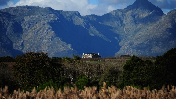 The tour also visits some of South Africa's famous vineyards, such as the one in Stellenbosch, pictured.