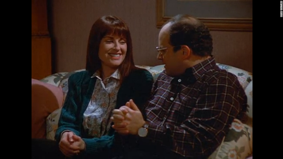 "Megan Mullally actually appeared in the same debut episode as Teri Hatcher, titled ""The Implant,"" playing George's girlfriend Betsy. In the episode, Betsy's aunt dies and George flies to the funeral, buying an expensive plane ticket (which he hopes to later get discounted). But it all goes wrong when Betsy's brother catches George double-dipping a chip (""I mean, you might as well put your whole mouth in the dip"") and Betsy breaks up with George. To make matters worse, George can't get a discount on his flight because he can't give a death certificate to the airline. Four years later, TV viewers embraced Mullally as Karen Walker in ""Will & Grace."""