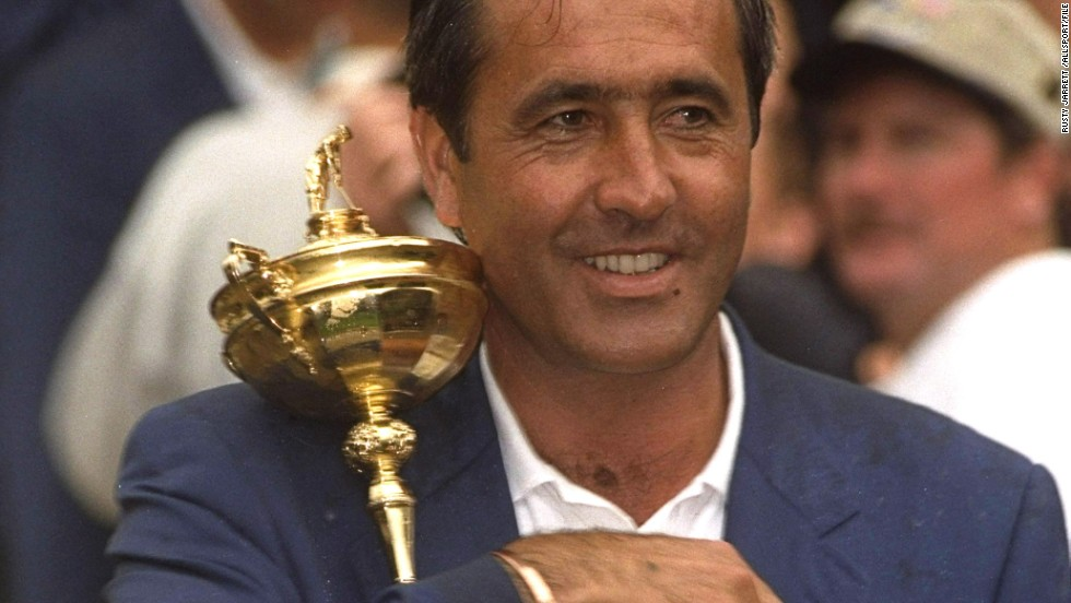 Ballesteros represented Europe eight times as a player and once as captain, when the contest was held at the Spanish resort of Valderrama. He led his side to a nail biting one point win in front of a rapturous crowd.