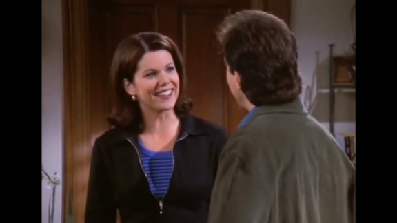 """Lauren Graham plays Jerry's girlfriend Valerie in an episode of season 8. Jerry is vying to be the top slot in Valerie's speed dial rankings. When Valerie's stepmother gets poisoned, Jerry gets called instead of poison control, and he's happy about how high he must rank. That reaction disgusts Valerie, and they break up. Three years later, fans fell in love with Graham as Lorelai Gilmore in """"Gilmore Girls."""""""