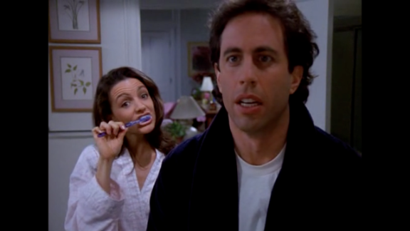"""Kristin Davis played Jerry's girlfriend Jenna in season eight's episode """"The Pothole."""" The relationship was doomed when Jerry accidentally drops her toothbrush in the toilet and Jenna uses it before he's able to warn her. Germaphobe Jerry secretly sterilizes her mouth, but still can't bring himself to kiss her after she used the toilet toothbrush. A year after her """"Seinfeld"""" debut, Davis gained fame playing Charlotte York in """"Sex and the City."""""""