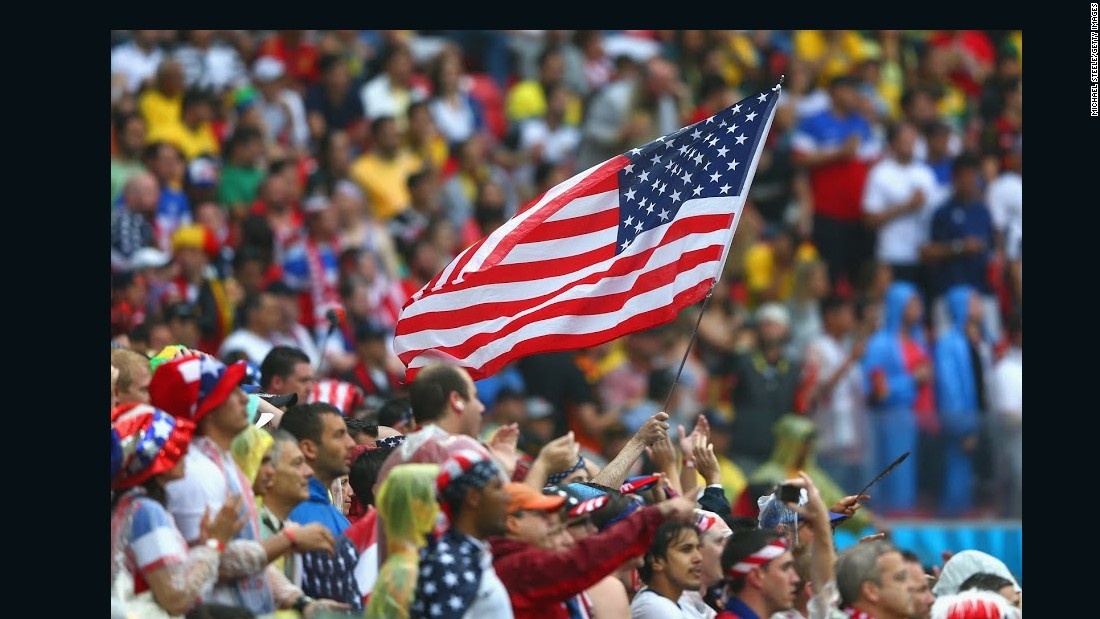 USA Fans World Cup Brazil