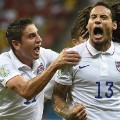 Jermaine Jones celebrates scoring goal