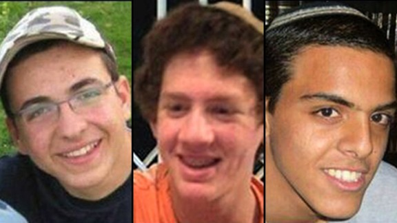 Three teens, Gilad Shaar and Naftali Frenkel, both 16, and Eyal Yifrach, 19, were last seen around Gush Etzion, on the Israeli side of the West Bank barrier later June 12 or early June 13, 2013.